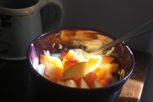 Yogurt and Peaches