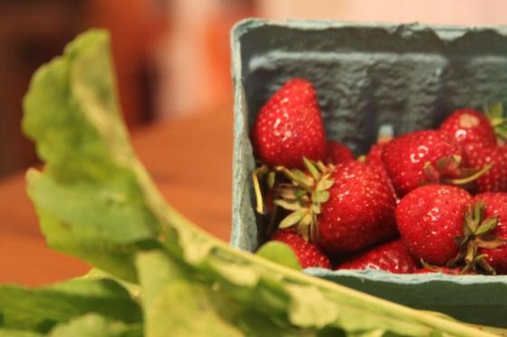 Strawberries and Arugula