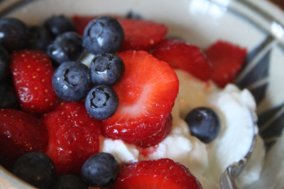 Berries in Yogurt