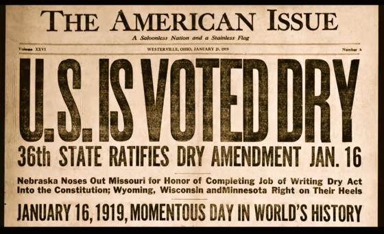 U.S. is Voted Dry