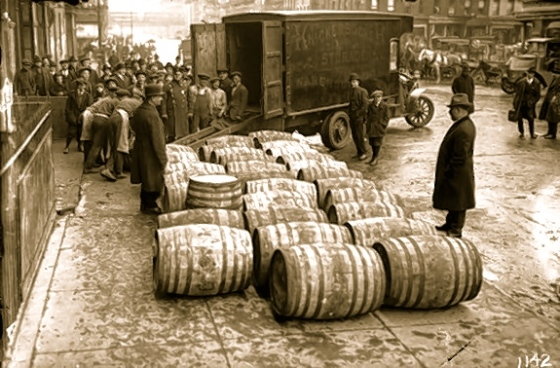 Confiscating Barrels of Wine